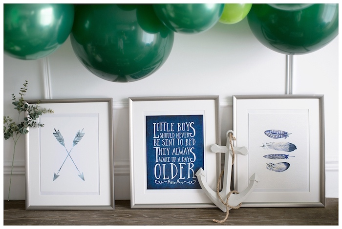 Neverland-inspired Prints from a Minimal Neverland + Lost Boys Birthday Party on Kara's Party Ideas | KarasPartyIdeas.com (5)