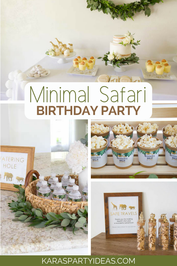 Minimal Safari Birthday Party via Kara_s Party Ideas - KarasPartyIdeas.com