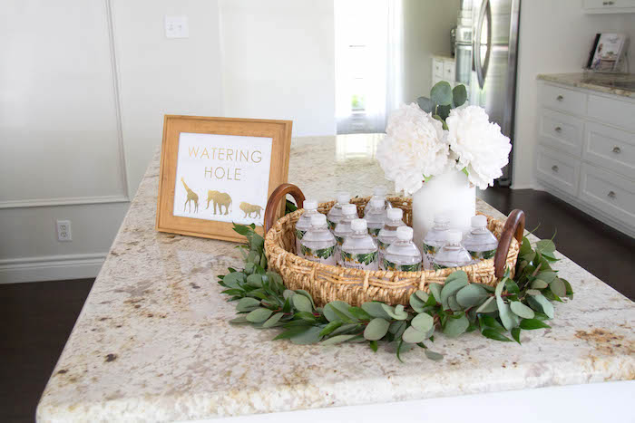 Watering Hole from a Minimal Safari Birthday Party on Kara's Party Ideas | KarasPartyIdeas.com (17)