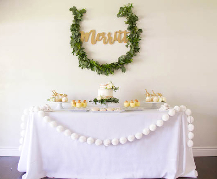 Safari Themed Sweet Table from a Minimal Safari Birthday Party on Kara's Party Ideas | KarasPartyIdeas.com (10)