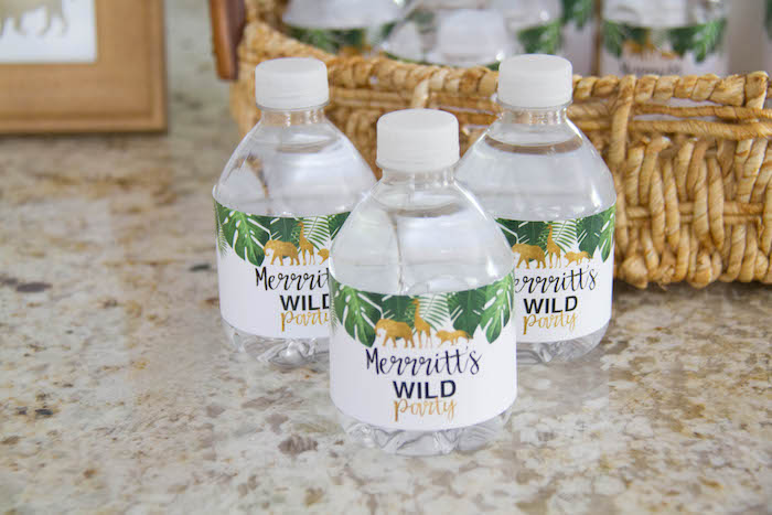 Safari Themed Water Bottle Labels from a Minimal Safari Birthday Party on Kara's Party Ideas | KarasPartyIdeas.com (18)
