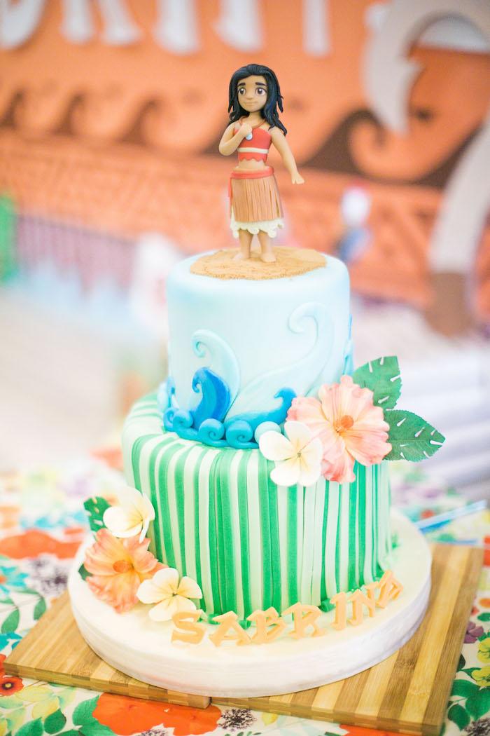 Moana Cake from a Moana Inspired Birthday Party on Kara's Party Ideas | KarasPartyIdeas.com (12)