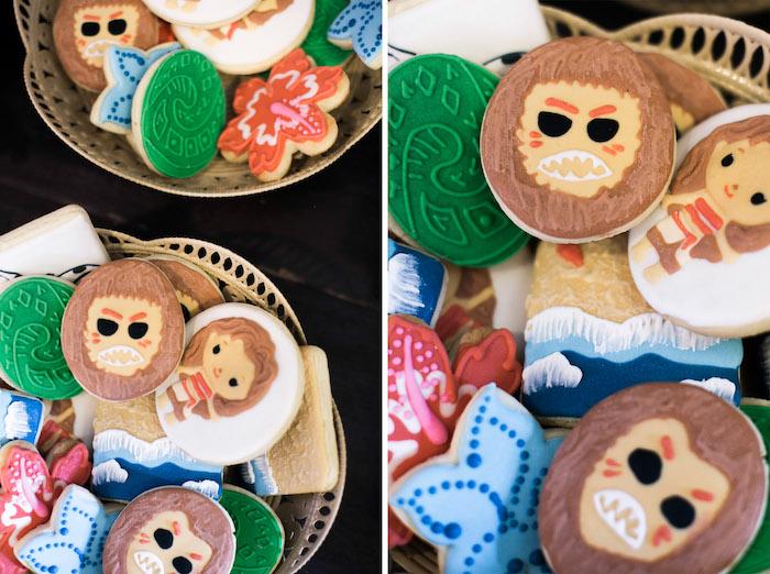 Cookies from a Moana Inspired Birthday Party on Kara's Party Ideas   KarasPartyIdeas.com (7)