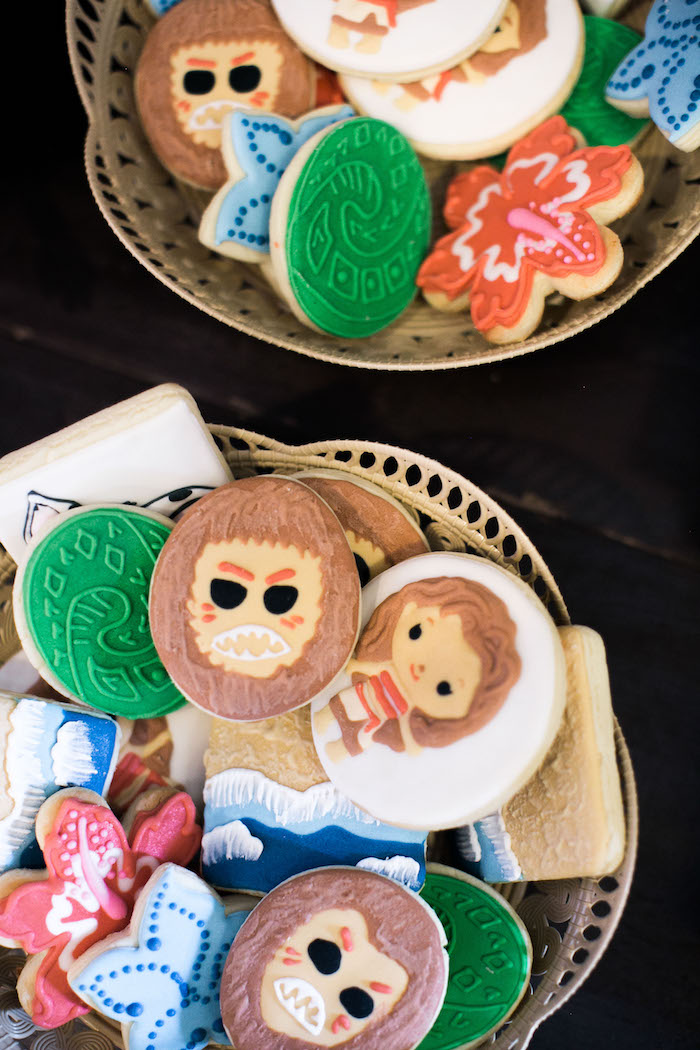 Cookies from a Moana Inspired Birthday Party on Kara's Party Ideas | KarasPartyIdeas.com (6)