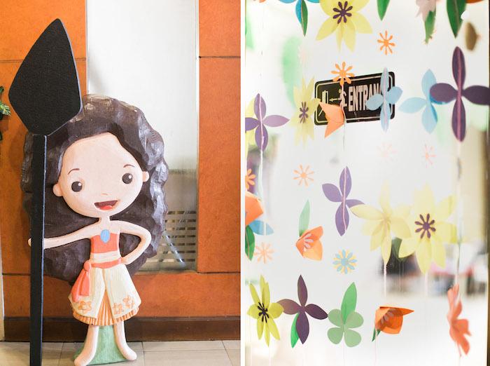 Moana Standee from a Moana Inspired Birthday Party on Kara's Party Ideas | KarasPartyIdeas.com (20)