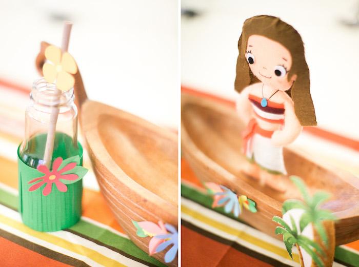 Grass Skirt Drink Bottle from a Moana Inspired Birthday Party on Kara's Party Ideas   KarasPartyIdeas.com (18)