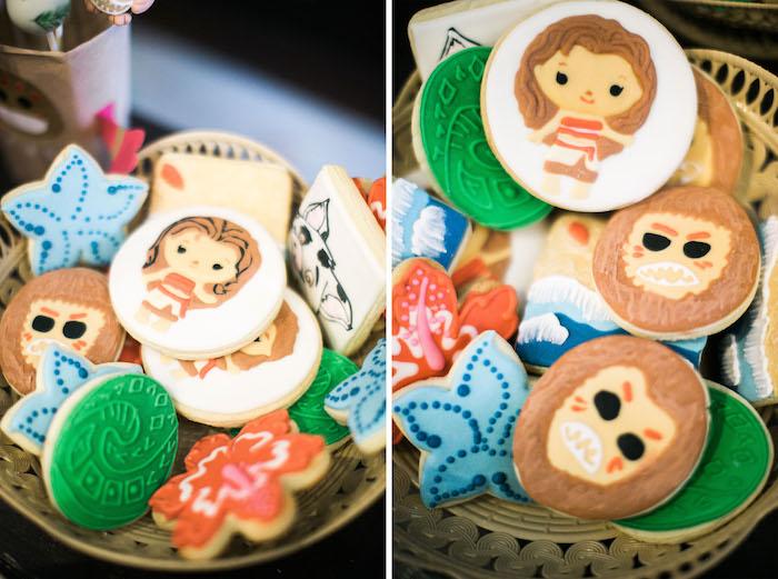 Cookies from a Moana Inspired Birthday Party on Kara's Party Ideas | KarasPartyIdeas.com (16)