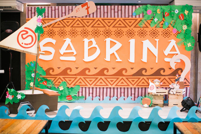Voyager Stage from a Moana Inspired Birthday Party on Kara's Party Ideas | KarasPartyIdeas.com (15)