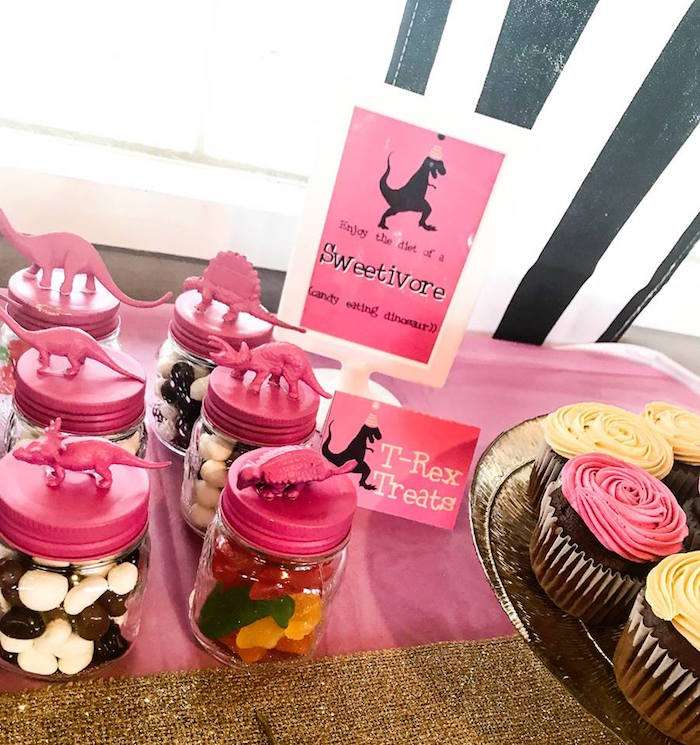 Sweets from a Modern Glam Dinosaur Birthday Party on Kara's Party Ideas | KarasPartyIdeas.com (9)