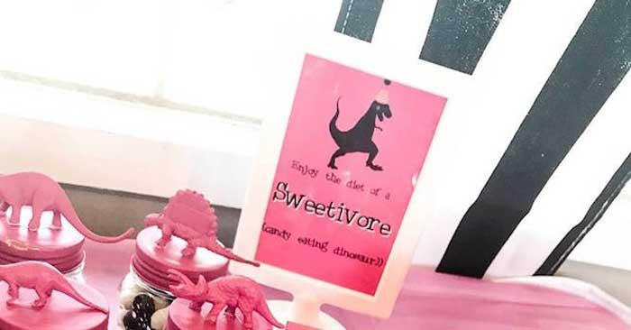 Modern Glam Dinosaur Birthday Party on Kara's Party Ideas | KarasPartyIdeas.com (4)