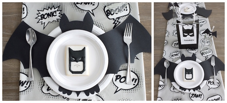 Monochromatic Batman Birthday Party on Kara's Party Ideas | KarasPartyIdeas.com (9)