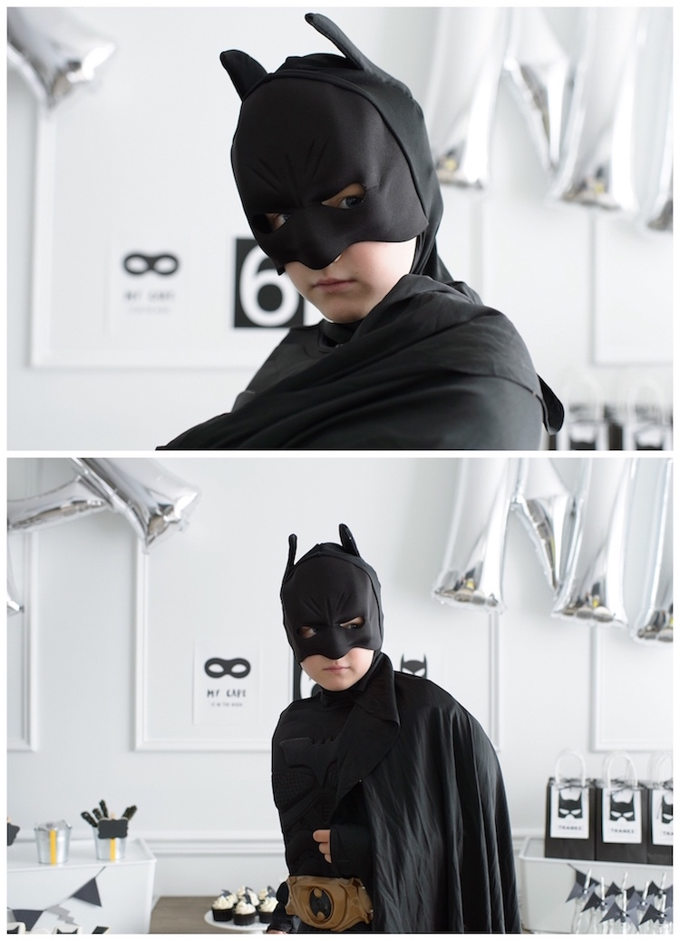 Monochromatic Batman Birthday Party on Kara's Party Ideas | KarasPartyIdeas.com (8)
