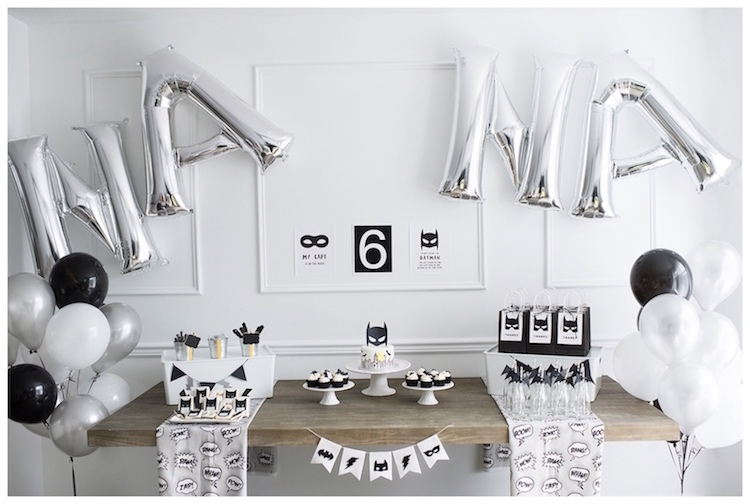 Monochromatic Batman Birthday Party on Kara's Party Ideas | KarasPartyIdeas.com (18)