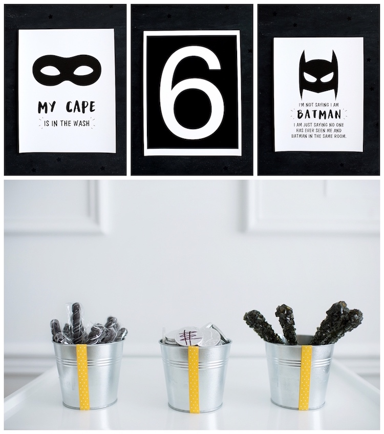 Monochromatic Batman Birthday Party on Kara's Party Ideas | KarasPartyIdeas.com (15)