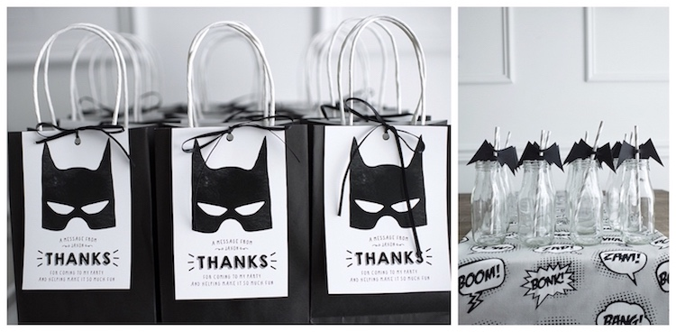 Monochromatic Batman Birthday Party on Kara's Party Ideas | KarasPartyIdeas.com (14)