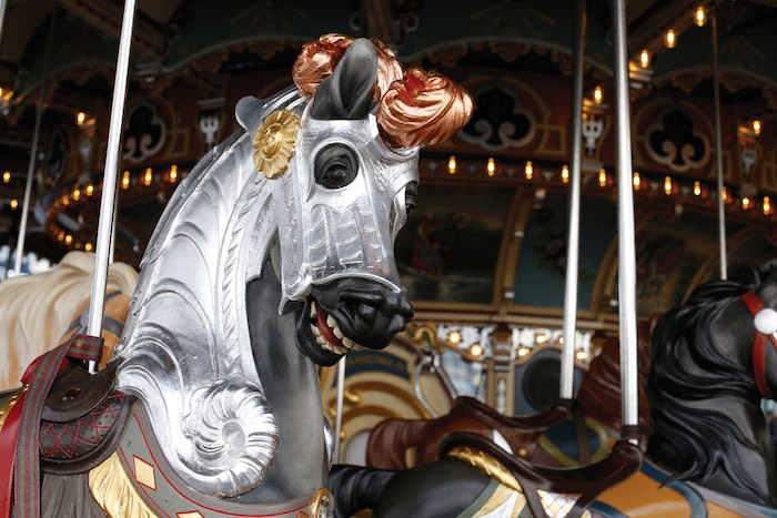 Carousel Horse from a Monochromatic Carousel Birthday Party on Kara's Party Ideas | KarasPartyIdeas.com (14)