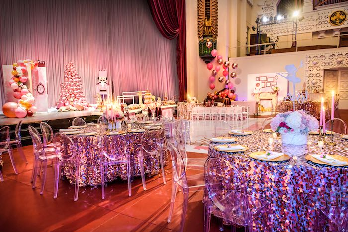 Guest Tables from a Nutcracker Ballet Winter Wonderland Party on Kara's Party Ideas | KarasPartyIdeas.com (7)