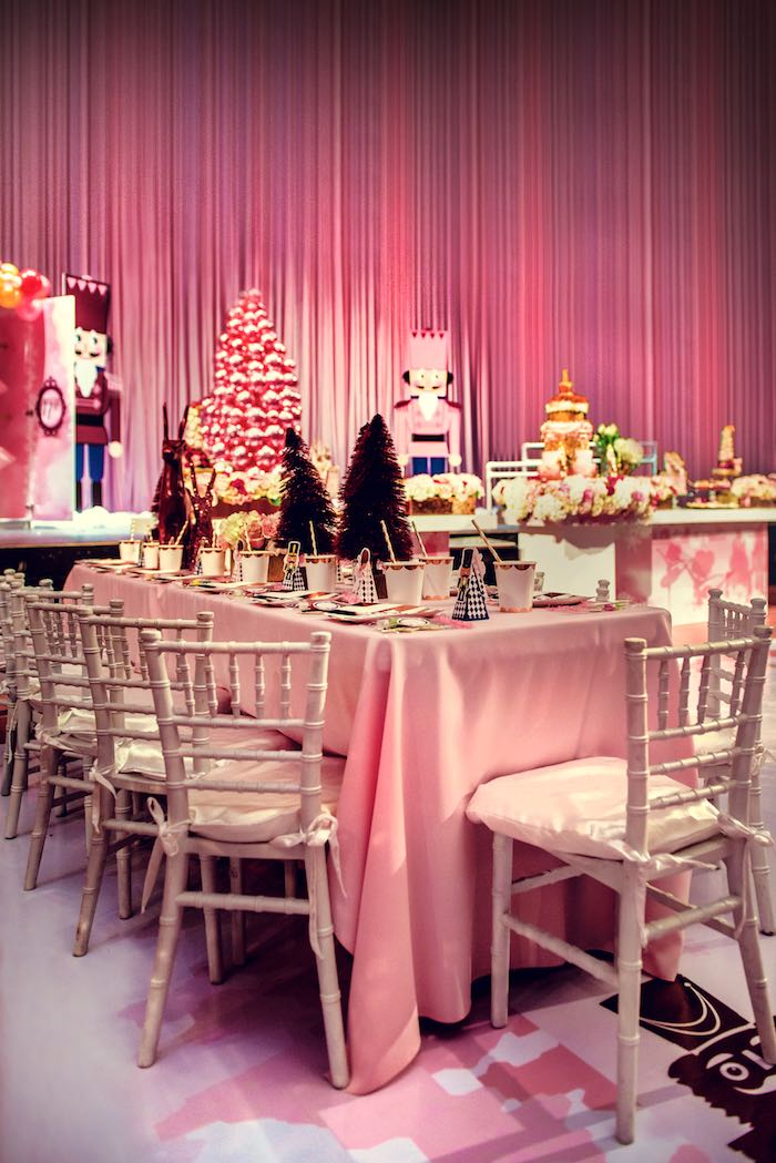 Guest Table from a Nutcracker Ballet Winter Wonderland Party on Kara's Party Ideas | KarasPartyIdeas.com (6)