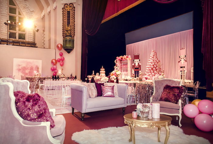 Sugarplum Lounge from a Nutcracker Ballet Winter Wonderland Party on Kara's Party Ideas | KarasPartyIdeas.com (18)