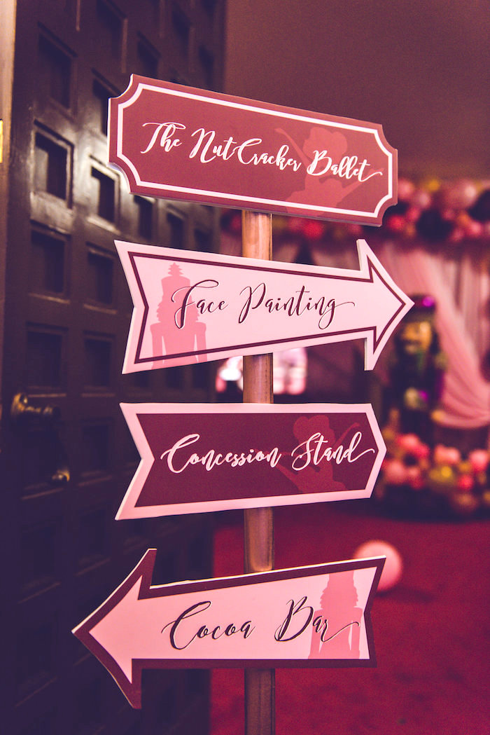 Directional Sign from a Nutcracker Ballet Winter Wonderland Party on Kara's Party Ideas | KarasPartyIdeas.com (17)