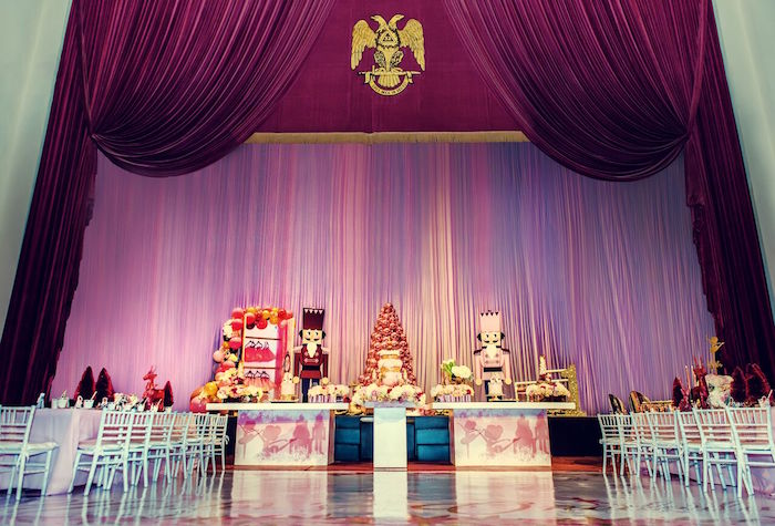 Nutcracker Stage Dessert Table from a Nutcracker Ballet Winter Wonderland Party on Kara's Party Ideas | KarasPartyIdeas.com (16)