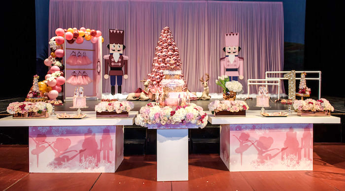 Nutcracker Dessert Table from a Nutcracker Ballet Winter Wonderland Party on Kara's Party Ideas | KarasPartyIdeas.com (15)
