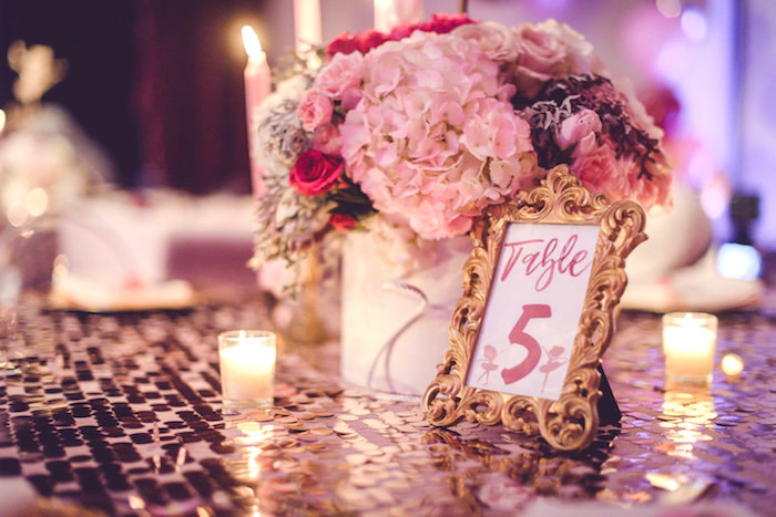 Guest Table from a Nutcracker Ballet Winter Wonderland Party on Kara's Party Ideas | KarasPartyIdeas.com (14)