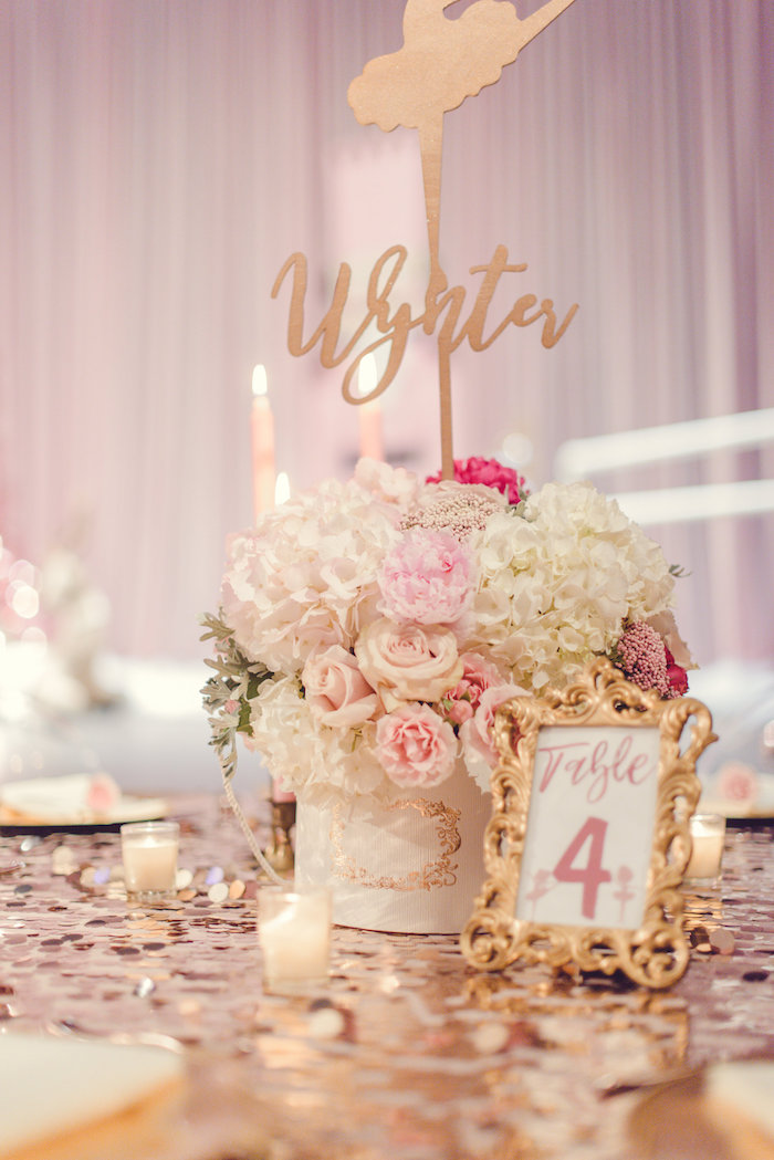 Guest Table from a Nutcracker Ballet Winter Wonderland Party on Kara's Party Ideas | KarasPartyIdeas.com (12)