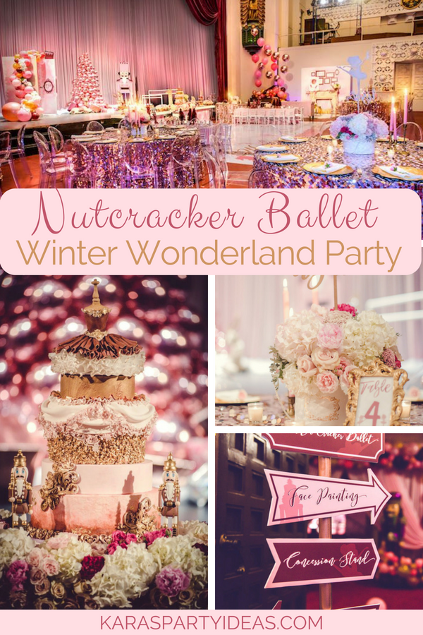 Nutcracker Ballet Winter Wonderland Party via KarasPartyIdeas - KarasPartyIdeas.com