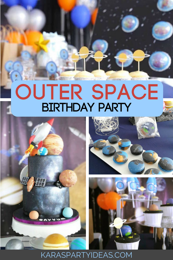 Outer Space Birthday Party via Kara_s Party Ideas - KarasPartyIdeas.com