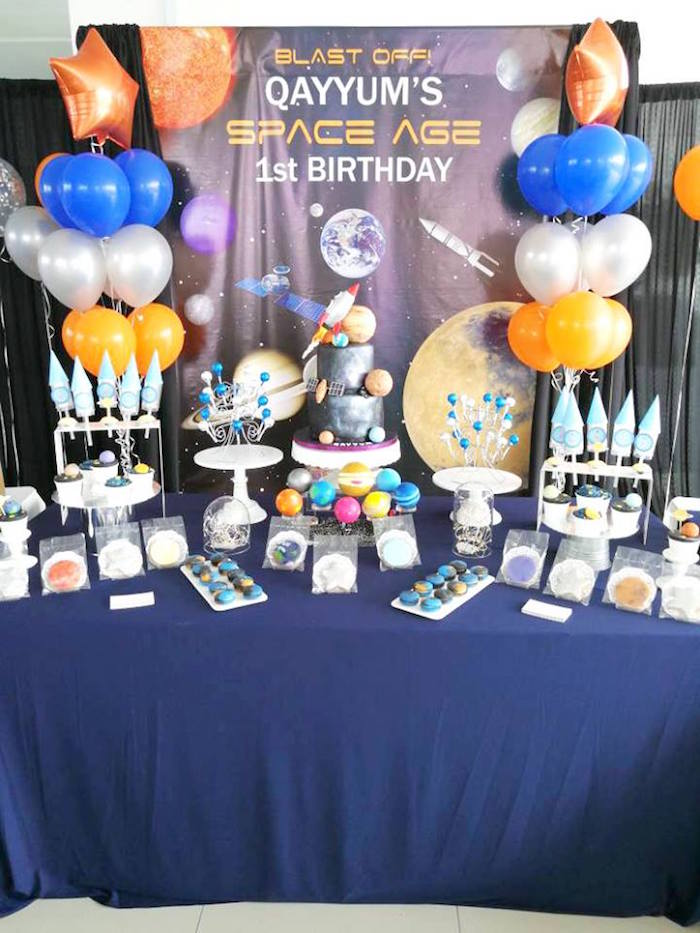 Outer Space Themed Dessert Table from an Outer Space Birthday Party on Kara's Party Ideas | KarasPartyIdeas.com (12)