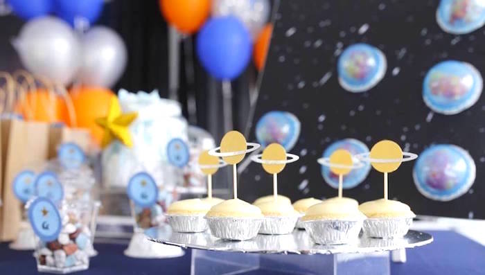 Planet Tarts from an Outer Space Birthday Party on Kara's Party Ideas | KarasPartyIdeas.com (11)