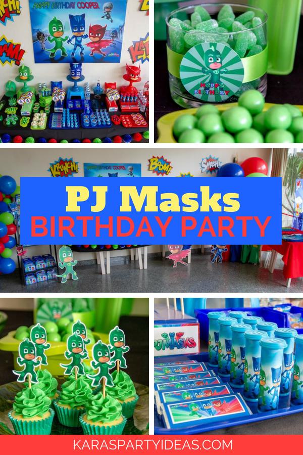 Kara's Party Ideas PJ Masks Birthday Party | Kara's Party ...