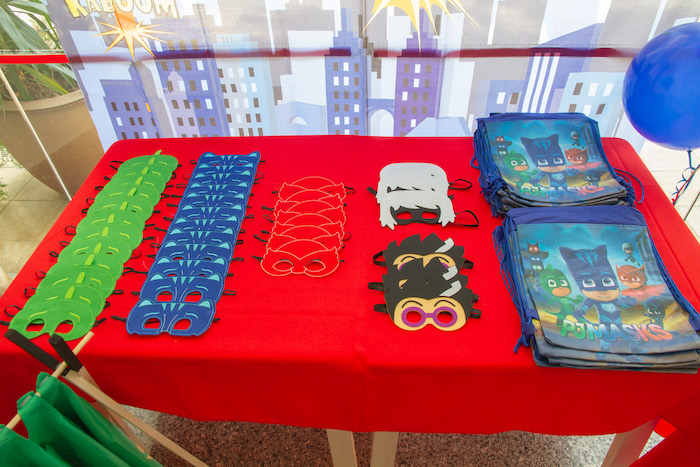 PJ Masks Party Favors + Masks from a PJ Masks Birthday Party on Kara's Party Ideas | KarasPartyIdeas,com (23)
