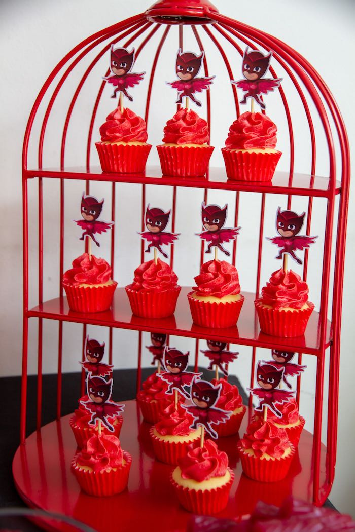 Owlette Cupcakes from a PJ Masks Birthday Party on Kara's Party Ideas | KarasPartyIdeas,com (11)