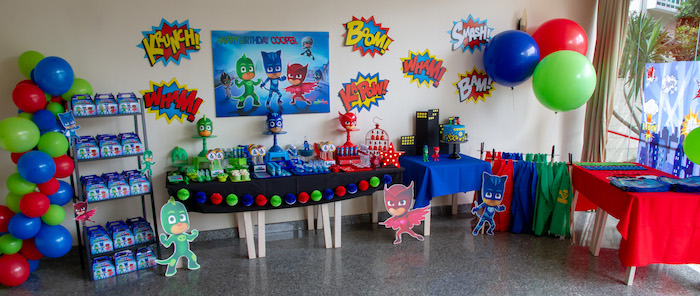 PJ Masks Birthday Party on Kara's Party Ideas | KarasPartyIdeas,com (6)