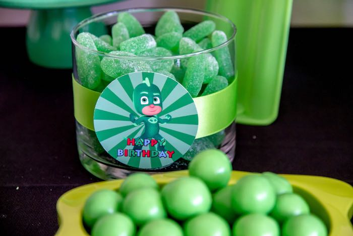 Gekko Candy from a PJ Masks Birthday Party on Kara's Party Ideas | KarasPartyIdeas,com (18)