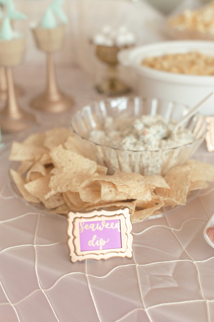 Seaweed Dip from a Pastel Under the Sea Mermaid Party on Kara's Party Ideas | KarasPartyIdeas.com (18)