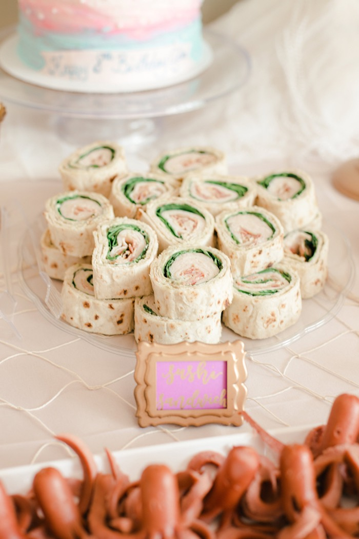 Wraps from a Pastel Under the Sea Mermaid Party on Kara's Party Ideas | KarasPartyIdeas.com (15)