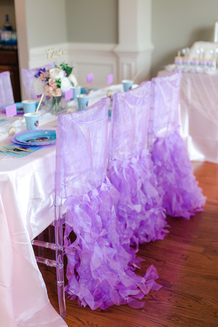 Jellyfish Guest Chair Covers from a Pastel Under the Sea Mermaid Party on Kara's Party Ideas | KarasPartyIdeas.com (25)
