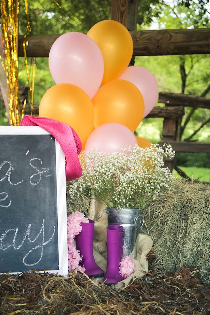Boots & Blooms from a Pink Pony Birthday Party on Kara's Party Ideas | KarasPartyIdeas.com (19)