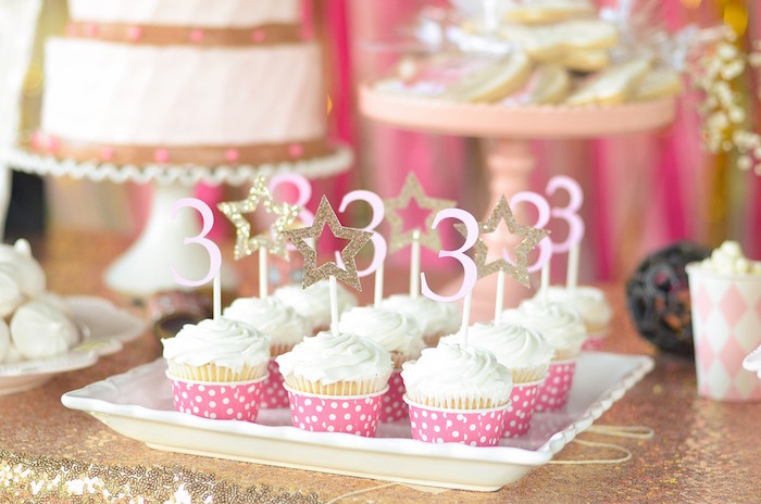 Star-topped Cupcakes from a Pink Pony Birthday Party on Kara's Party Ideas | KarasPartyIdeas.com (18)