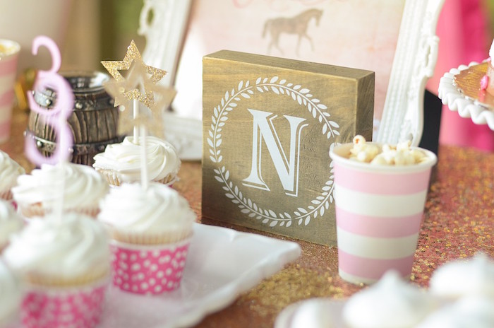 Letter Signage from a Pink Pony Birthday Party on Kara's Party Ideas | KarasPartyIdeas.com (17)