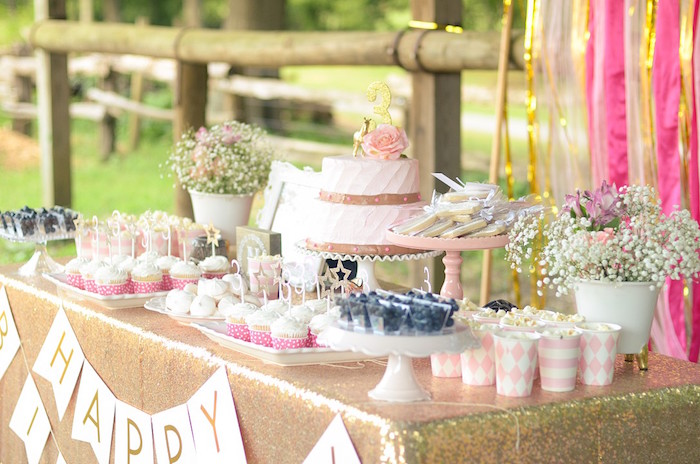 Sweet Table from a Pink Pony Birthday Party on Kara's Party Ideas | KarasPartyIdeas.com (16)