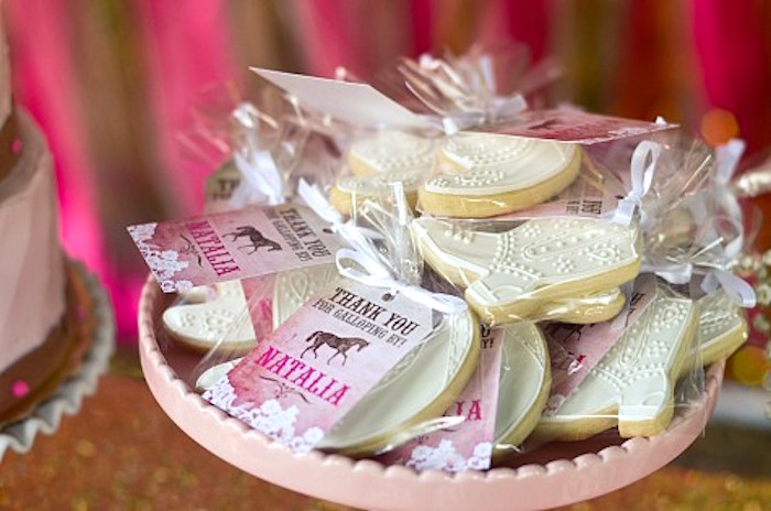 Cowgirl Cookies from a Pink Pony Birthday Party on Kara's Party Ideas | KarasPartyIdeas.com (11)