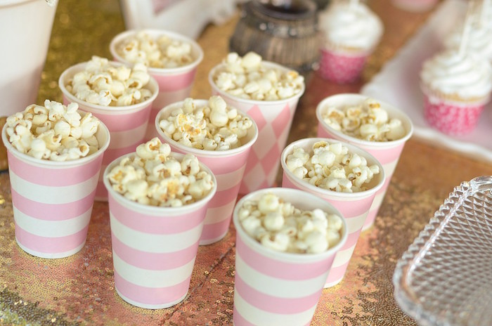 Popcorn Cups from a Pink Pony Birthday Party on Kara's Party Ideas | KarasPartyIdeas.com (10)