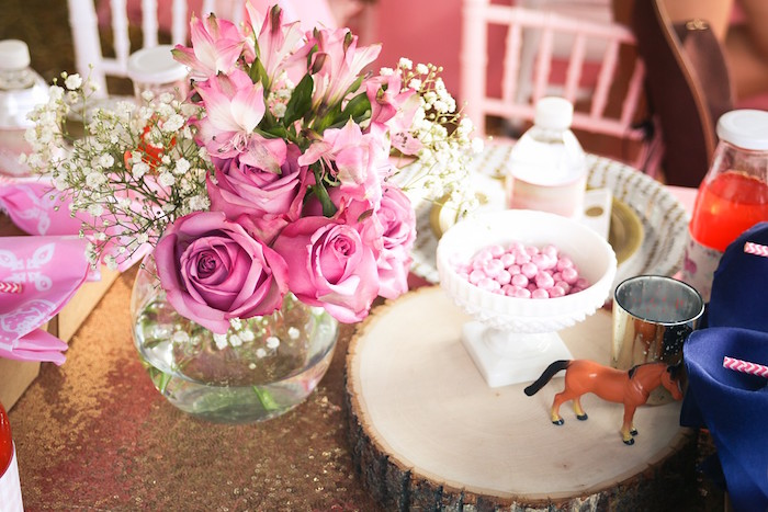Blooms and Ponies from a Pink Pony Birthday Party on Kara's Party Ideas | KarasPartyIdeas.com (22)
