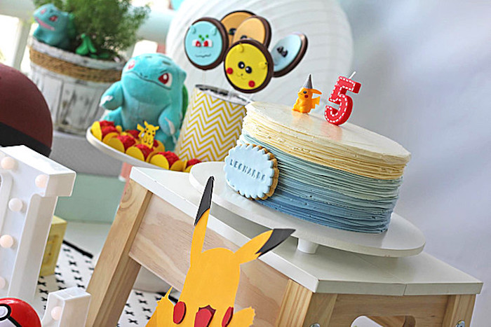 Cakescape from a Pokemon Birthday Party on Kara's Party Ideas | KarasPartyIdeas.com (5)