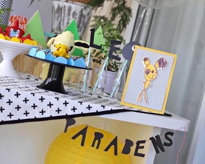 Pokemon Party Table from a Pokemon Birthday Party on Kara's Party Ideas | KarasPartyIdeas.com (10)