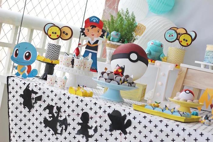 Pokemon Themed Dessert Table from a Pokemon Birthday Party on Kara's Party Ideas | KarasPartyIdeas.com (9)